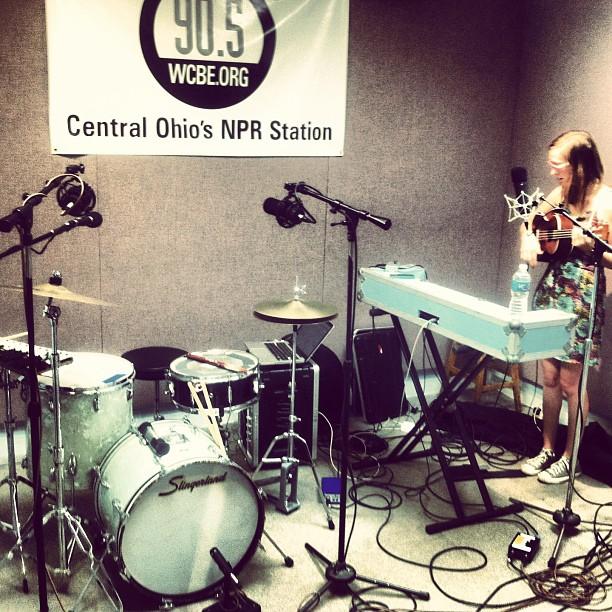 In- studio @ WCBE in Columbus